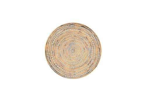 Rios Gold Medallion Resin Wall Decor Platter 12""