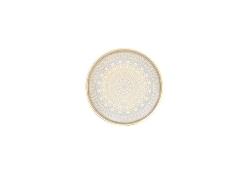 Savoy Gold Trim Round Tray Florence Small