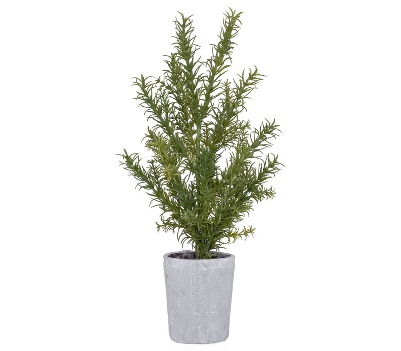 """Provence Rustic Potted Faux Rosemary Herb Plant 18""""H"""