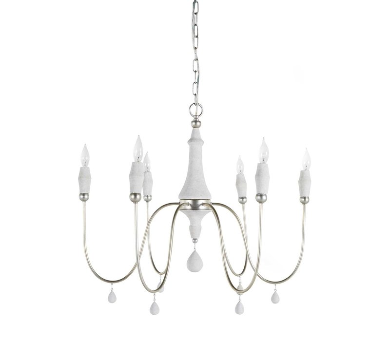 Clay Chandelier Silver Small
