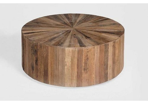 "Cyrano Coffee Table Reclaimed Elm 40"" dia."