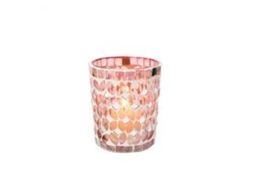 Rosebloom Mosaic Votive M
