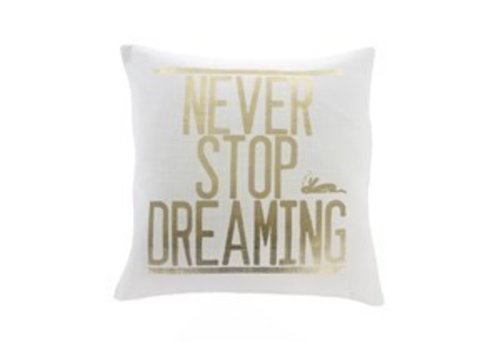 Never Stop Dreaming Cushion 20x20""