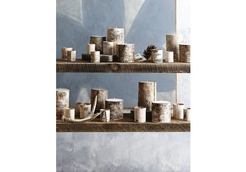 Natural Birch Bark Filled Candle