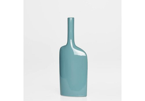 Alba Long Neck Short Vase - Teal