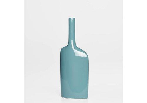 Alba Long Neck Short Vase Teal
