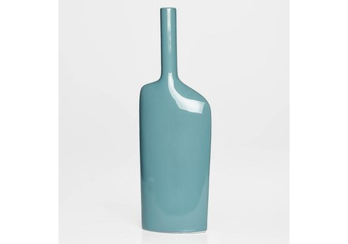 Alba Long Neck Tall Vase - Teal