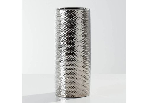 Helio Hammered Vase  Short