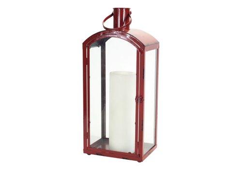 """Red Rectangular Lantern (25"""")"""