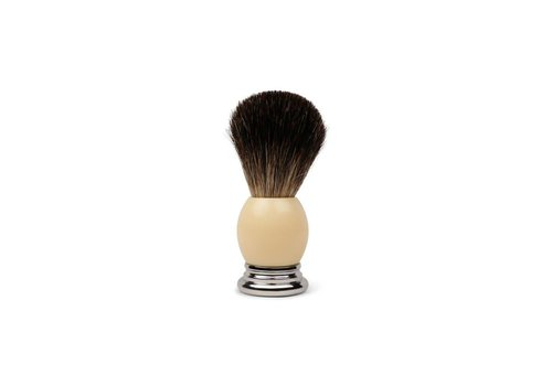 Shave Brush Ivory Resin Handle