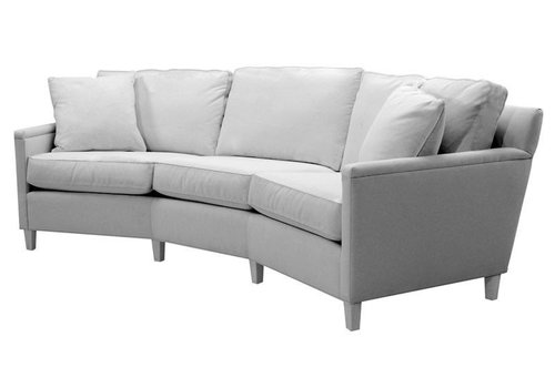 Easton Wedge Sofa with Wood Base
