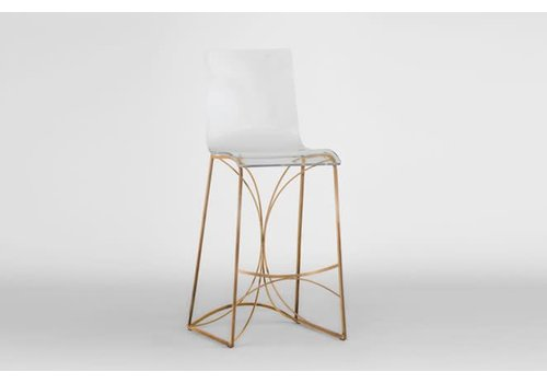 Angela Bar Stool - Gold