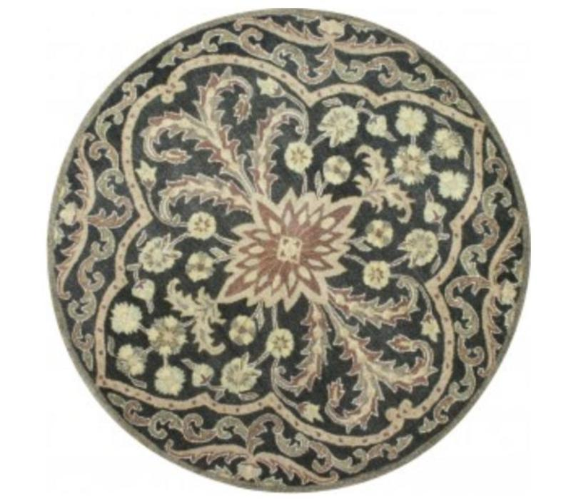 Legacy Smoke Area Rug 6 Round Red