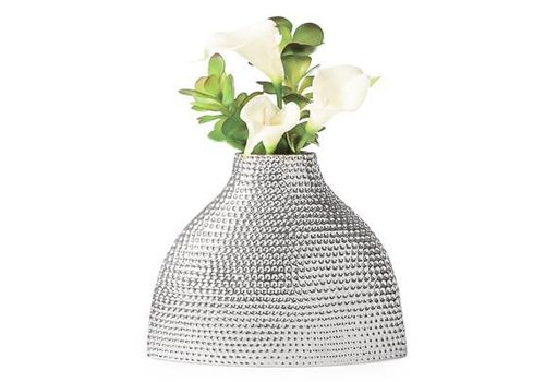 Helio Hammered Ceramic Silo Vase - Medium