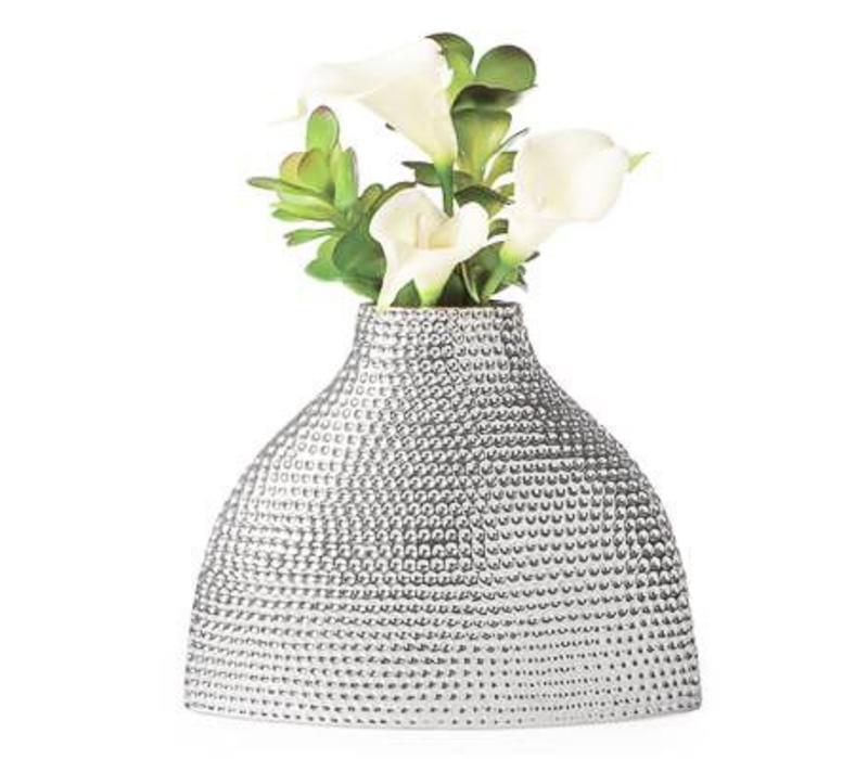 Helio Hammered Ceramic Silo Vase - Medium