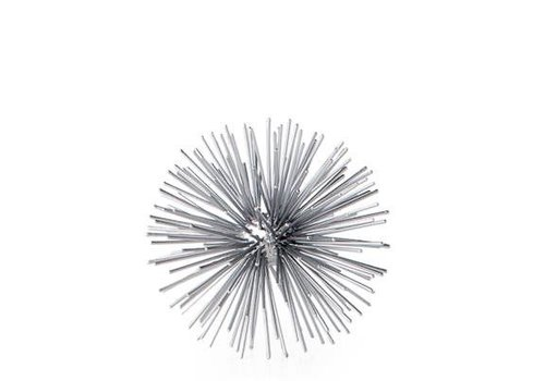 Spike Decor Sphere  Silver Small