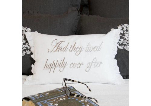 And They Lived Happily Ever After Pillow 18 x 12