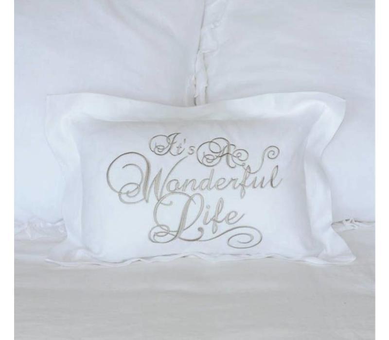 It's a Wonderful Life Pillow 12 x 18