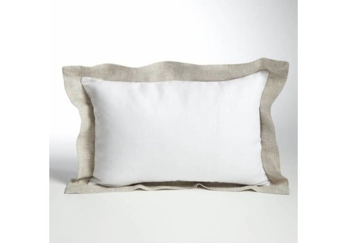 Linen Decor Pillow with Contrast Frame