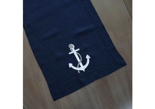 Anchor Linen Table Runner