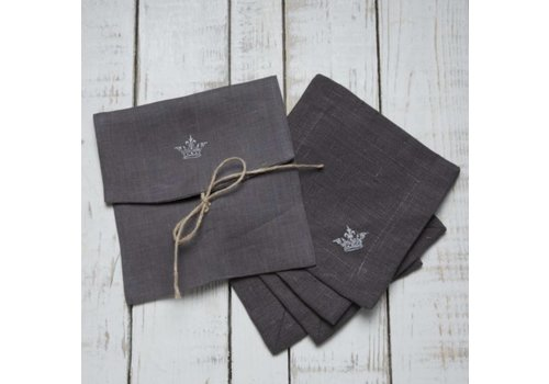 Crown Cocktail Napkin Set