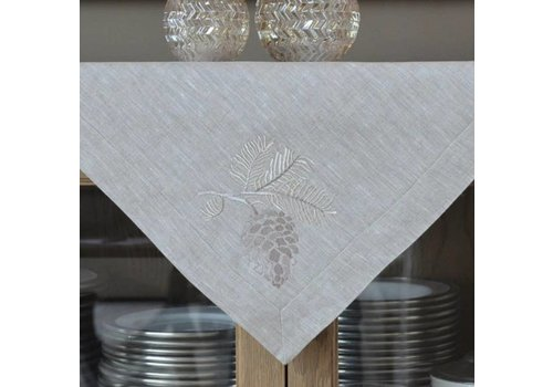 Pinecone Linen Table Square