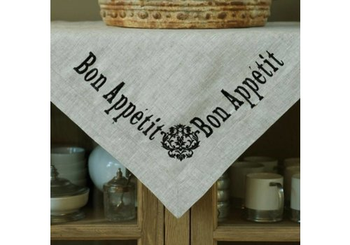Bon Appetit Linen Table Square