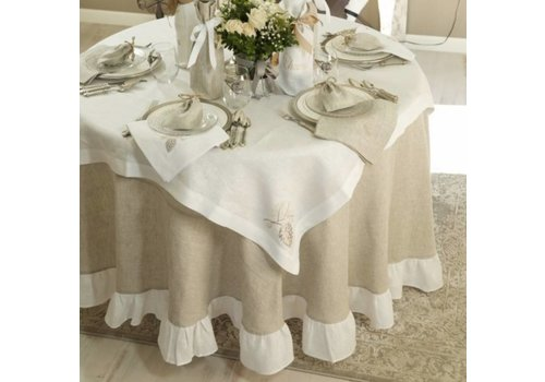 "Two Tone 90"" Tablecloth"