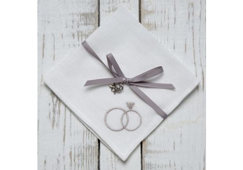 Wedding Rings Handkerchief