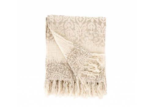 Light Gray Marais Linen Throw