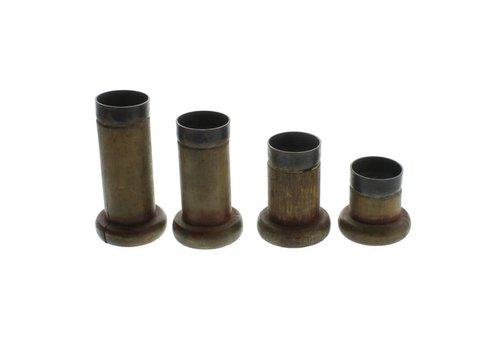 Piper Wood Spool Tealight Holder - Set of 4