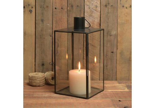 Langdon Leaded Glass Lantern - Lrg