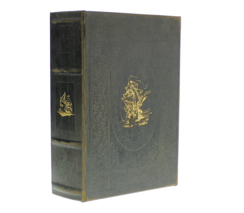 Maritime Embossed Book Box - Ship