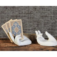 Single Hand Card Holder Antique White