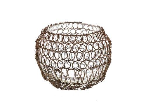 Twisted Wire Votive - Copper