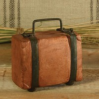Terra Cotta Suitcase Bank