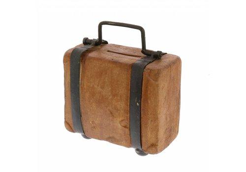 Terra Cotta Suitcase Bank