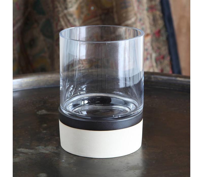 Tucker Ceramic Hurricane with Glass