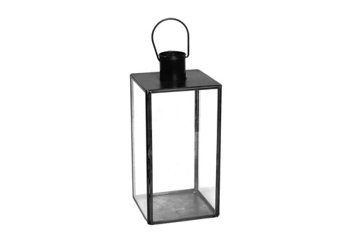 Langdon Leaded Glass Lantern - Med