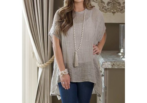 Harper Blouse Taupe One Size