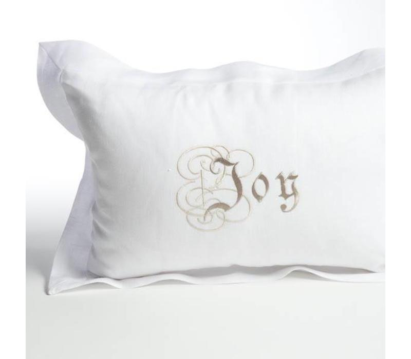 Decor Pillow Joy Flax White