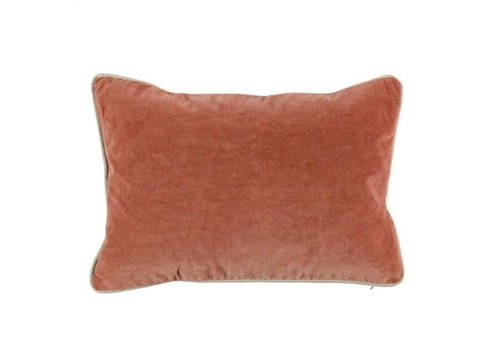 SLD Heirloom Velvet Terra Cotta Pillow 14x20