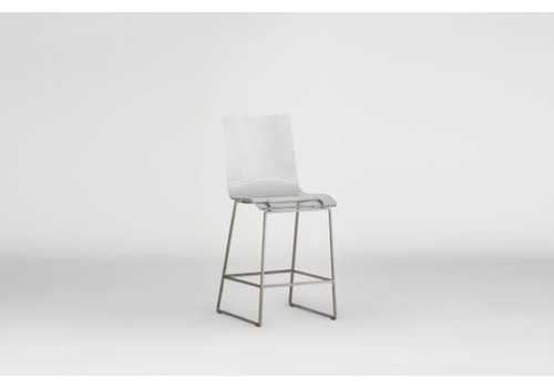 King Counter Stool - Silver