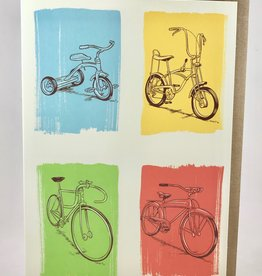Artists to Watch Keep Biking Birthday Card