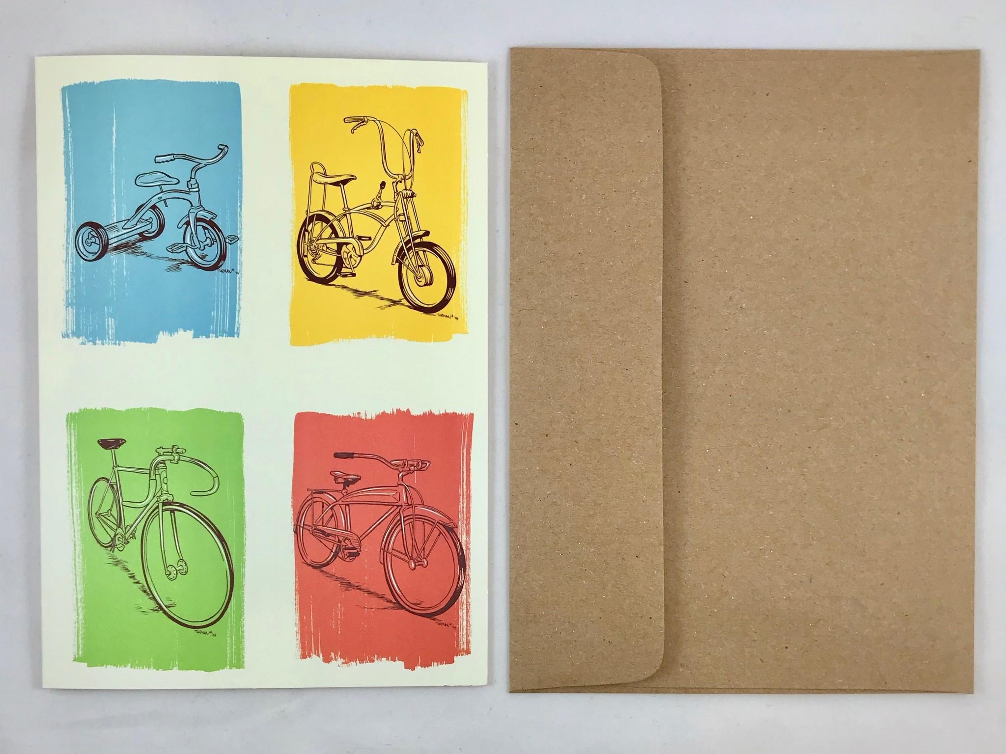 Keep Biking Birthday Card    Artists to Watch
