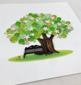 Quilling Card Spring Tree Quilling Card
