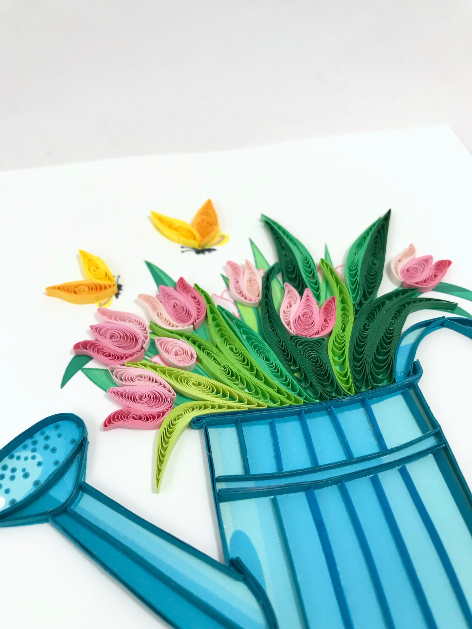 Quilling Card Happy Gardening || Quilling Card