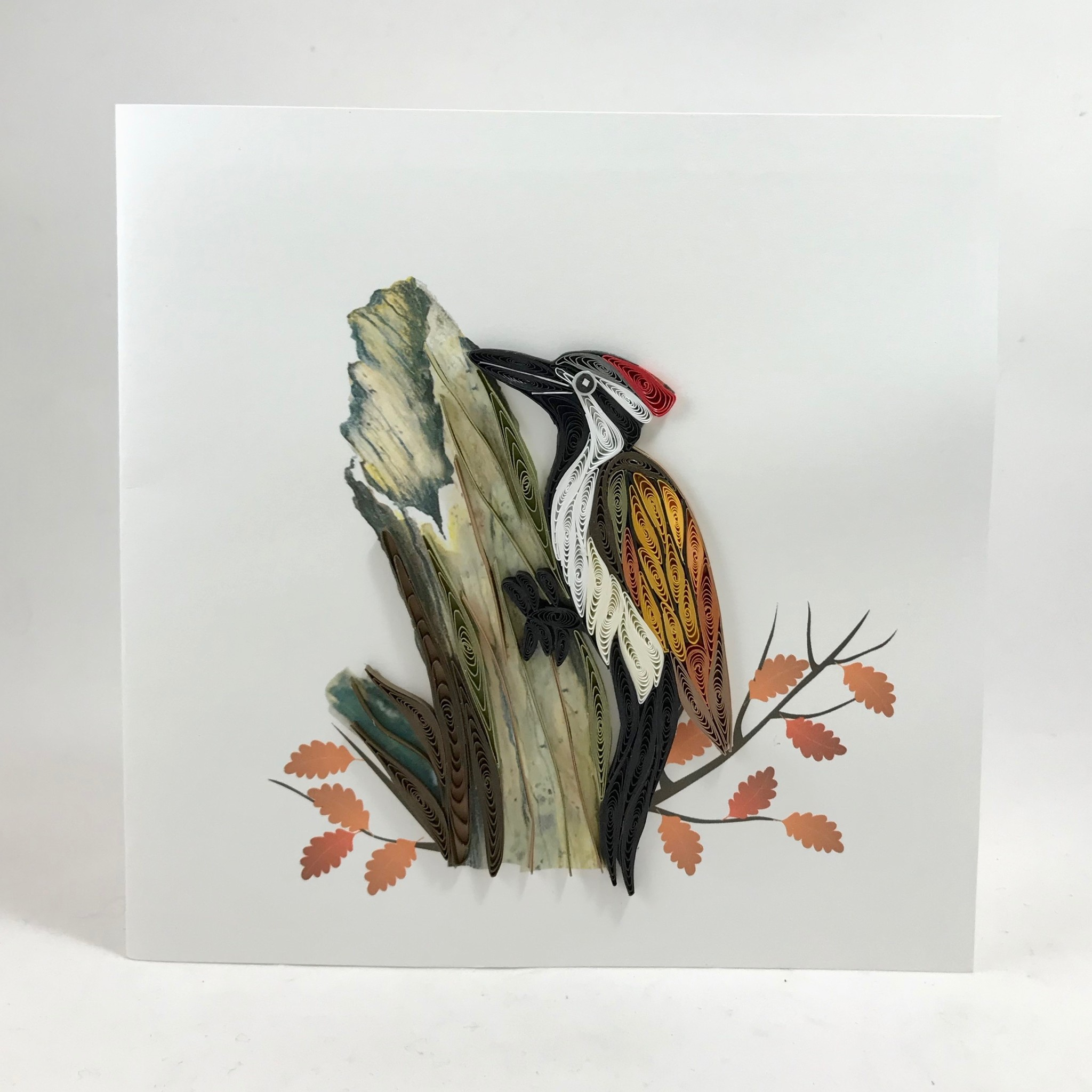 Quilling Card Woodpecker || Quilling Cards