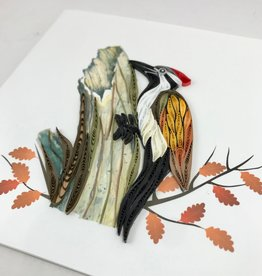 Quilling Card Woodpecker Quilling Card