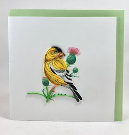 Quilling Card Eastern Goldfinch Quilling Card